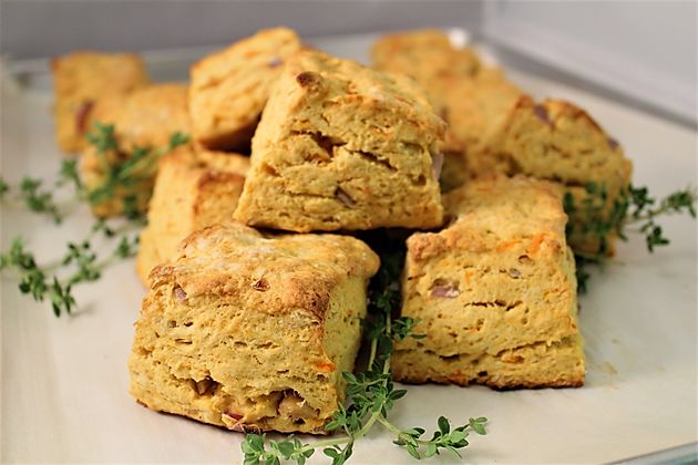 Sweet Potato Roasted Shallot Biscuits