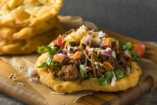 Fry Bread Tacos with Potato and Chorizo