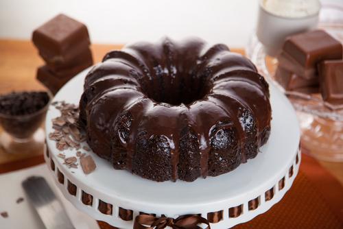 Walnut Chocolate Bundt Cake