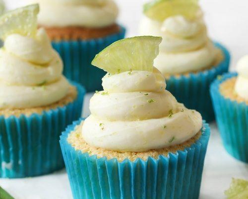 Tropical Key Lime Cupcakes