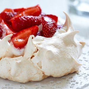 Strawberry Pavlova Cake with Chantilly Whipped Cream