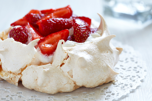 Strawberry Pavlova Cake with Chantilly Whipped Cream