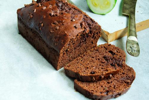Chocolate Chocolate Chip Zucchini Bread