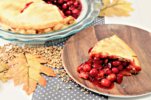 Spiced Cherry Cranberry Pie