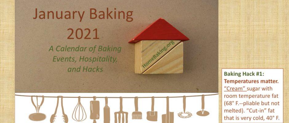 January Baking Calendar