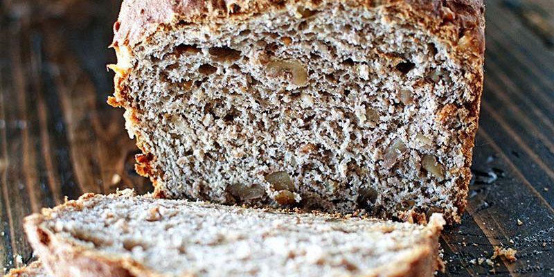 Bulger Wheat Apple Cider Walnut Bread
