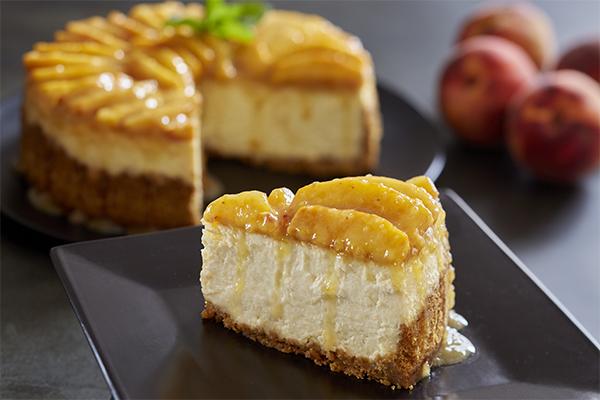 Peaches and Cream Cheesecake