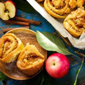 Apple Rolls with Golden Apple Syrup