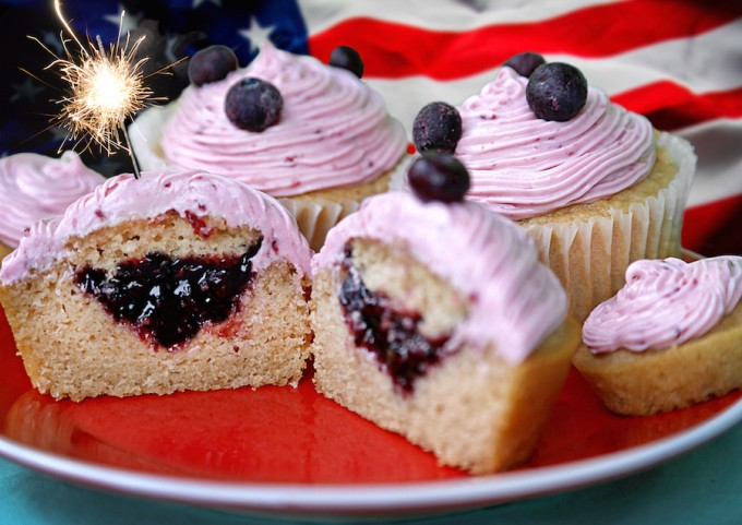 Blueberry Raspberry Cupcakes
