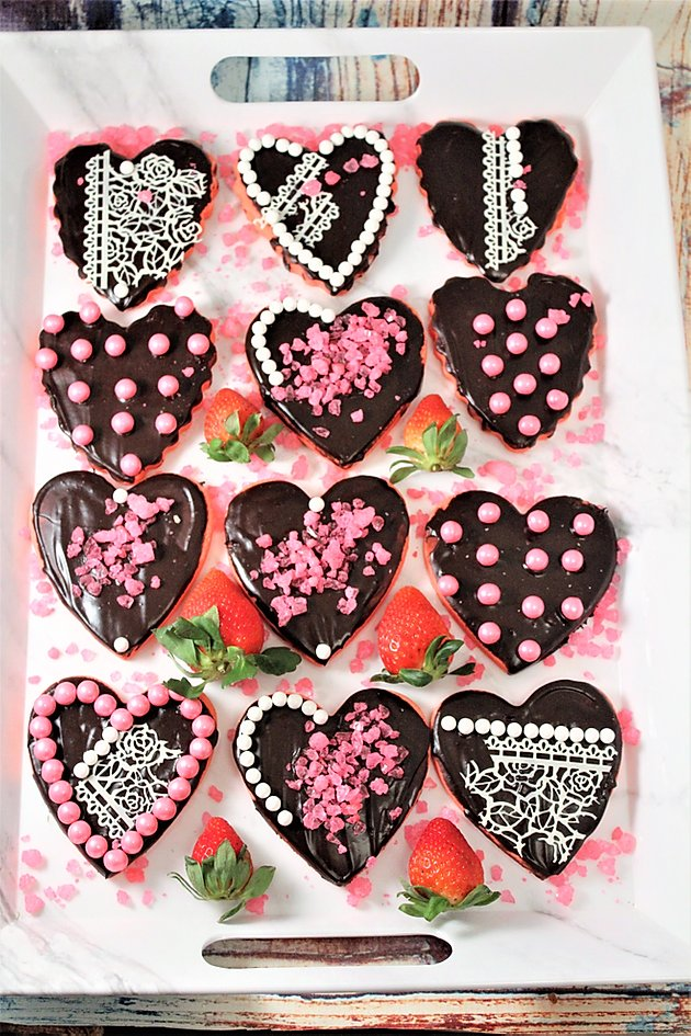 Chocolate Dipped Strawberry Sugar Cookies