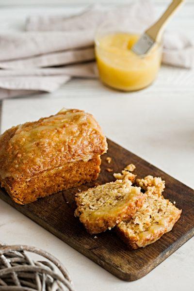 Spiced Apple Cake with Orange Glaze