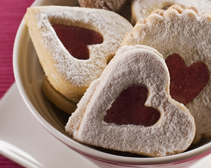 Valentine Butter and Almond Cookies