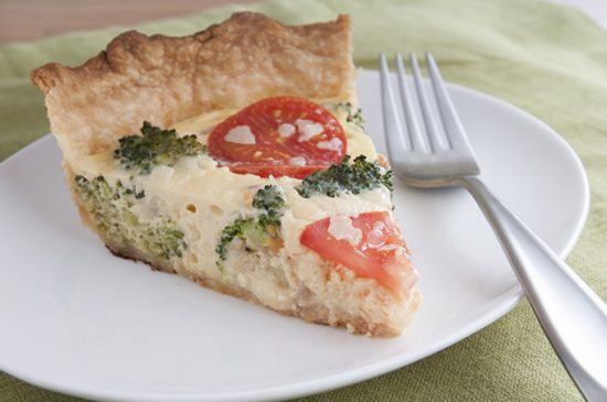 Broccoli Swiss Quiche with Whole Wheat Crust