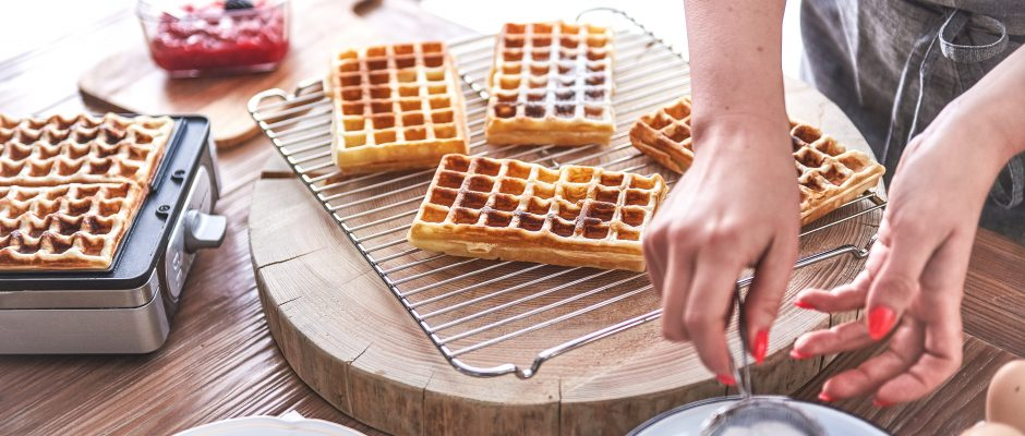 Crispy Whole Grain Waffles