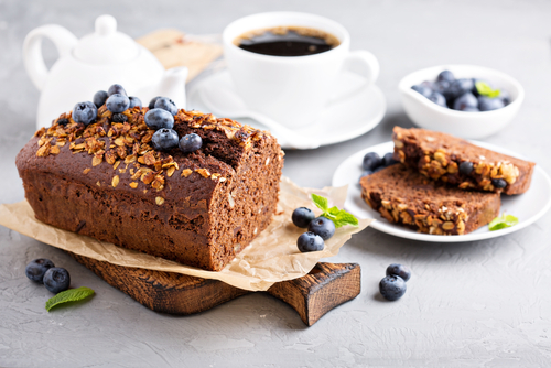 Whole Wheat Chocolate Blueberry Loaf