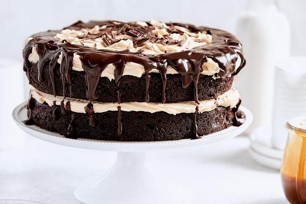 Caramel Fudge Layer Cake