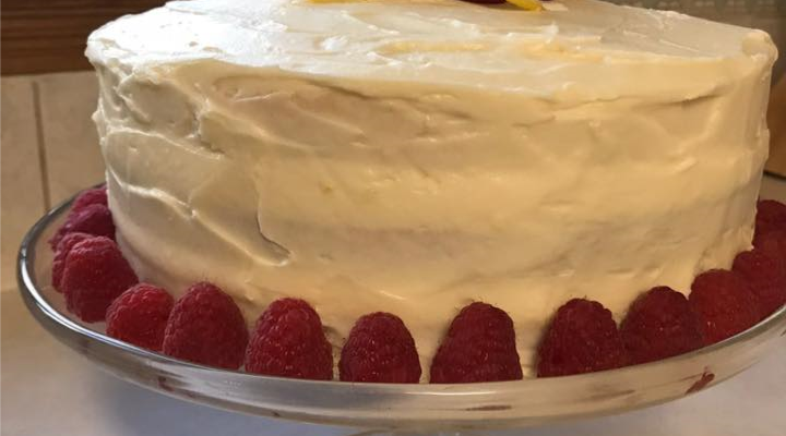 Lemon Cream Layered Cake
